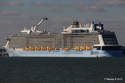 ANTHEM OF THE SEAS Departs Maiden Voyage Southampton PDM 22-04-2015 17-18-47