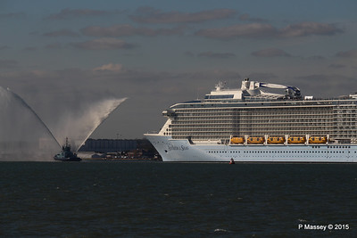 PHENIX Fire Tug ANTHEM OF THE SEAS Maiden Voyage Southampton PDM 22-04-2015 17-21-05