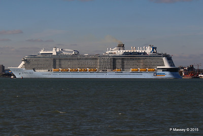 ANTHEM OF THE SEAS Maiden Voyage Departing Southampton PDM 22-04-2015 17-22-46