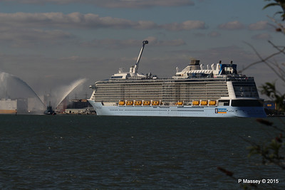 PHENIX Fire Tug ANTHEM OF THE SEAS Maiden Voyage Southampton PDM 22-04-2015 17-17-45