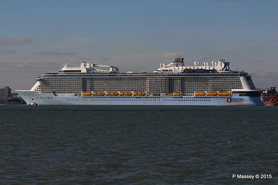 ANTHEM OF THE SEAS Maiden Voyage Departing Southampton PDM 22-04-2015 17-22-56
