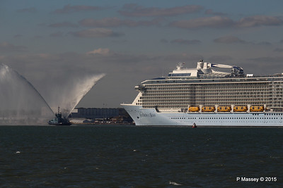 PHENIX Fire Tug ANTHEM OF THE SEAS Maiden Voyage Southampton PDM 22-04-2015 17-21-00