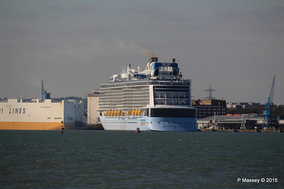ANTHEM OF THE SEAS Departing Maiden Voyage GRANDE SCANDINAVIA Southampton PDM 22-04-2015 17-11-03