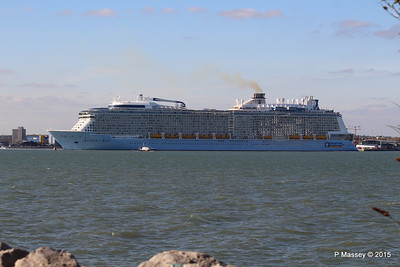 ANTHEM OF THE SEAS Maiden Voyage Departing Southampton PDM 22-04-2015 17-23-57