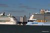 ANTHEM OF THE SEAS Maiden Voyage Passing EXPLORER OF THE SEAS Southampton PDM 22-04-2015 17-37-48