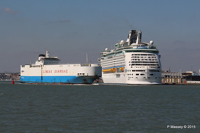 TENERIFE CAR Passing EXPLORER OF THE SEAS Southampton PDM 22-04-2015 15-24-52