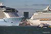 ANTHEM OF THE SEAS Maiden Voyage Passing EXPLORER OF THE SEAS Southampton PDM 22-04-2015 17-33-38