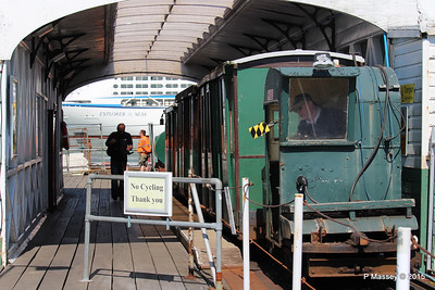 EXPLORER OF THE SEAS passing Hythe Pier Train Southampton PDM 22-04-2015 15-16-26