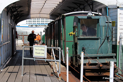 EXPLORER OF THE SEAS passing Hythe Pier Train Southampton PDM 22-04-2015 15-16-28