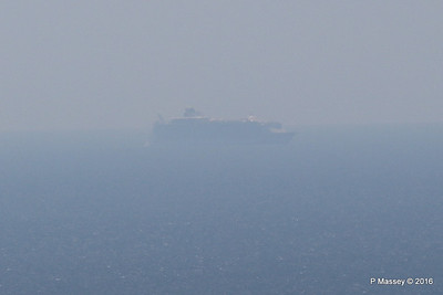 Very Distant HARMONY OF THE SEAS from Blackgang IOW PDM 16-05-2016 13-31-041