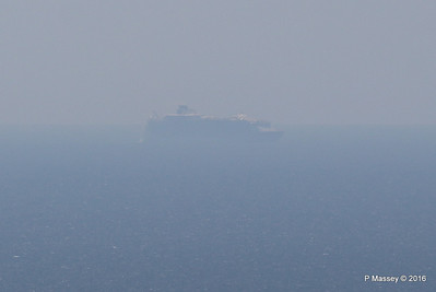 Very Distant HARMONY OF THE SEAS from Blackgang IOW PDM 16-05-2016 13-26-018