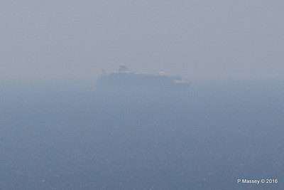 Very Distant HARMONY OF THE SEAS from Blackgang IOW PDM 16-05-2016 13-28-043