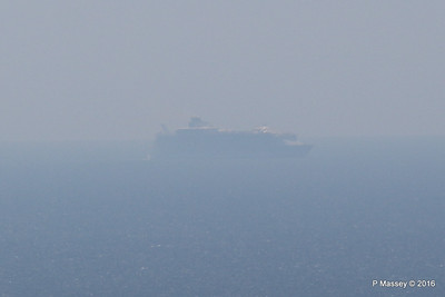 Very Distant HARMONY OF THE SEAS from Blackgang IOW PDM 16-05-2016 13-31-037