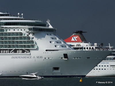 INDEPENDENCE OF THE SEAS Departing Southampton PDM 17-05-2014 17-01-17