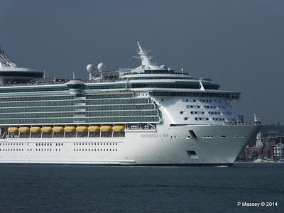 INDEPENDENCE OF THE SEAS Departing Southampton PDM 17-05-2014 16-58-07