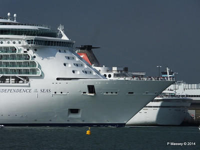 INDEPENDENCE OF THE SEAS Departing Southampton PDM 17-05-2014 17-01-20