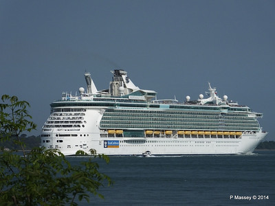 INDEPENDENCE OF THE SEAS Departing Southampton PDM 17-05-2014 17-07-28