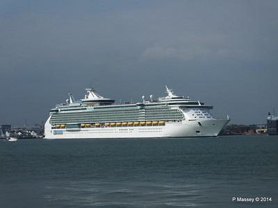 INDEPENDENCE OF THE SEAS Departing Southampton PDM 17-05-2014 16-59-22