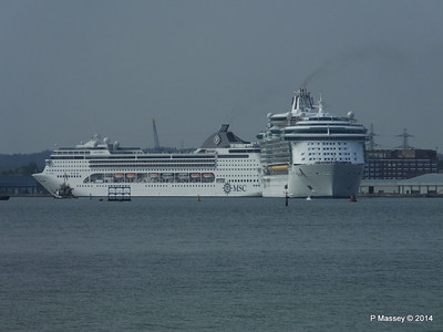 INDEPENDENCE OF THE SEAS MSC OPERA Southampton PDM 17-05-2014 16-50-12