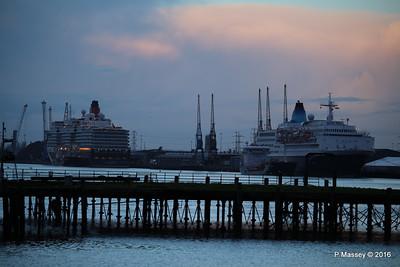 QUEEN ELIZABETH SAGA SAPPHIRE over Royal Pier Southampton PDM 10-01-2016 08-31-27