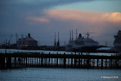 QUEEN ELIZABETH SAGA SAPPHIRE over Royal Pier Southampton PDM 10-01-2016 08-31-24
