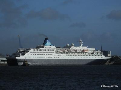 SAGA SAPPHIRE Departing Southampton PDM 07-01-2014 12-17-58