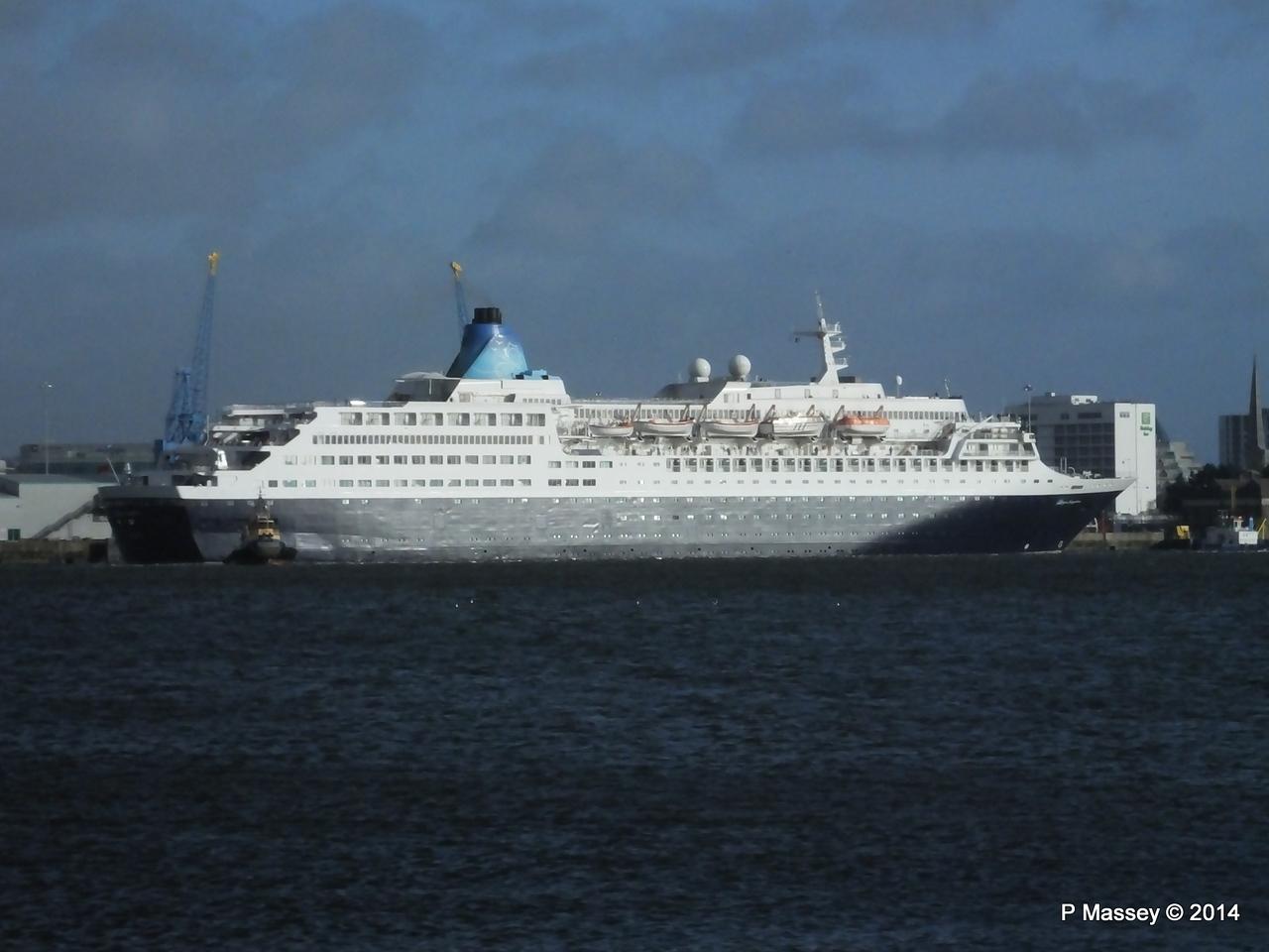 SAGA SAPPHIRE Departing Southampton PDM 07-01-2014 12-14-32