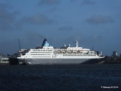SAGA SAPPHIRE Departing Southampton PDM 07-01-2014 12-18-13