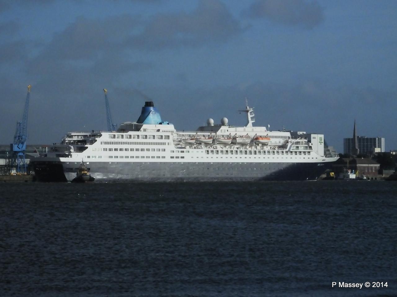 SAGA SAPPHIRE Departing Southampton PDM 07-01-2014 12-15-53