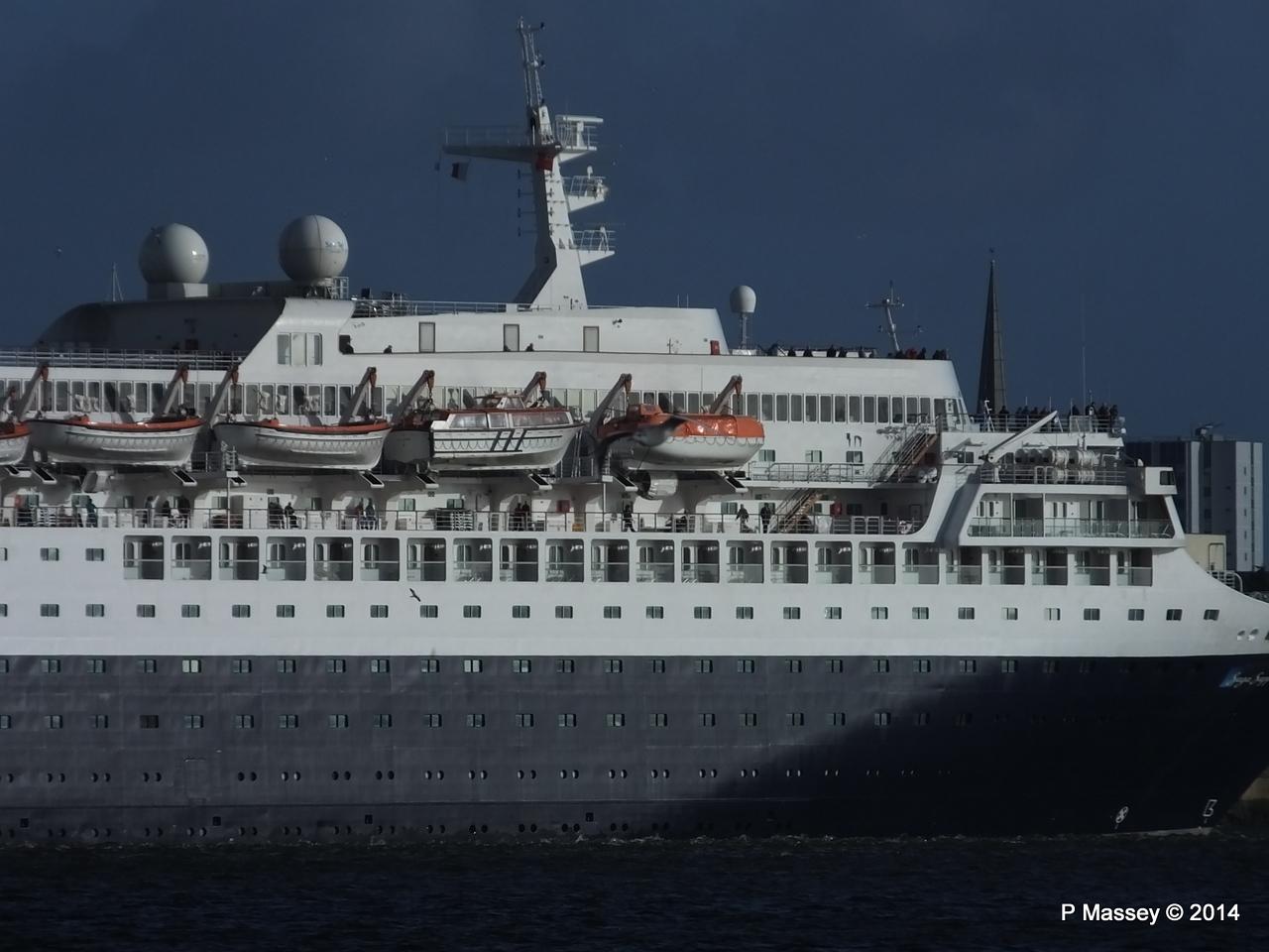 SAGA SAPPHIRE Departing Southampton PDM 07-01-2014 12-18-26