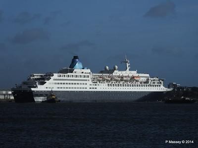 SAGA SAPPHIRE Departing Southampton PDM 07-01-2014 12-20-02
