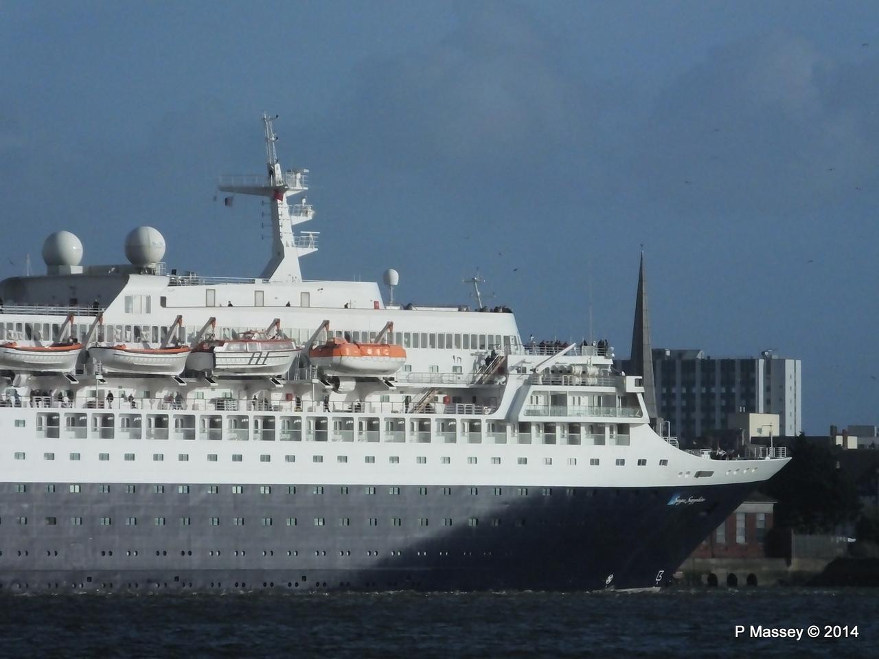 SAGA SAPPHIRE Departing Southampton PDM 07-01-2014 12-17-50