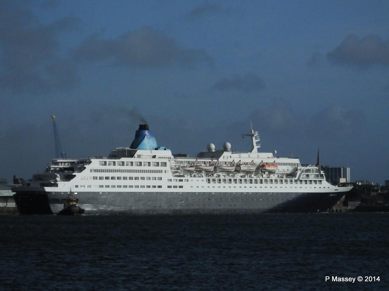 SAGA SAPPHIRE Departing Southampton PDM 07-01-2014 12-18-01