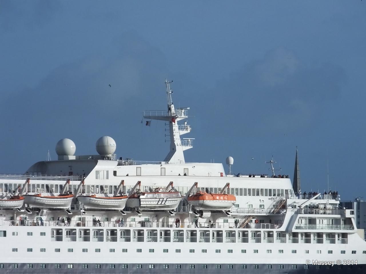 SAGA SAPPHIRE Departing Southampton PDM 07-01-2014 12-18-29