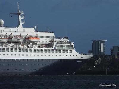 SAGA SAPPHIRE Departing Southampton PDM 07-01-2014 12-19-17