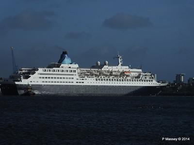 SAGA SAPPHIRE Departing Southampton PDM 07-01-2014 12-18-36