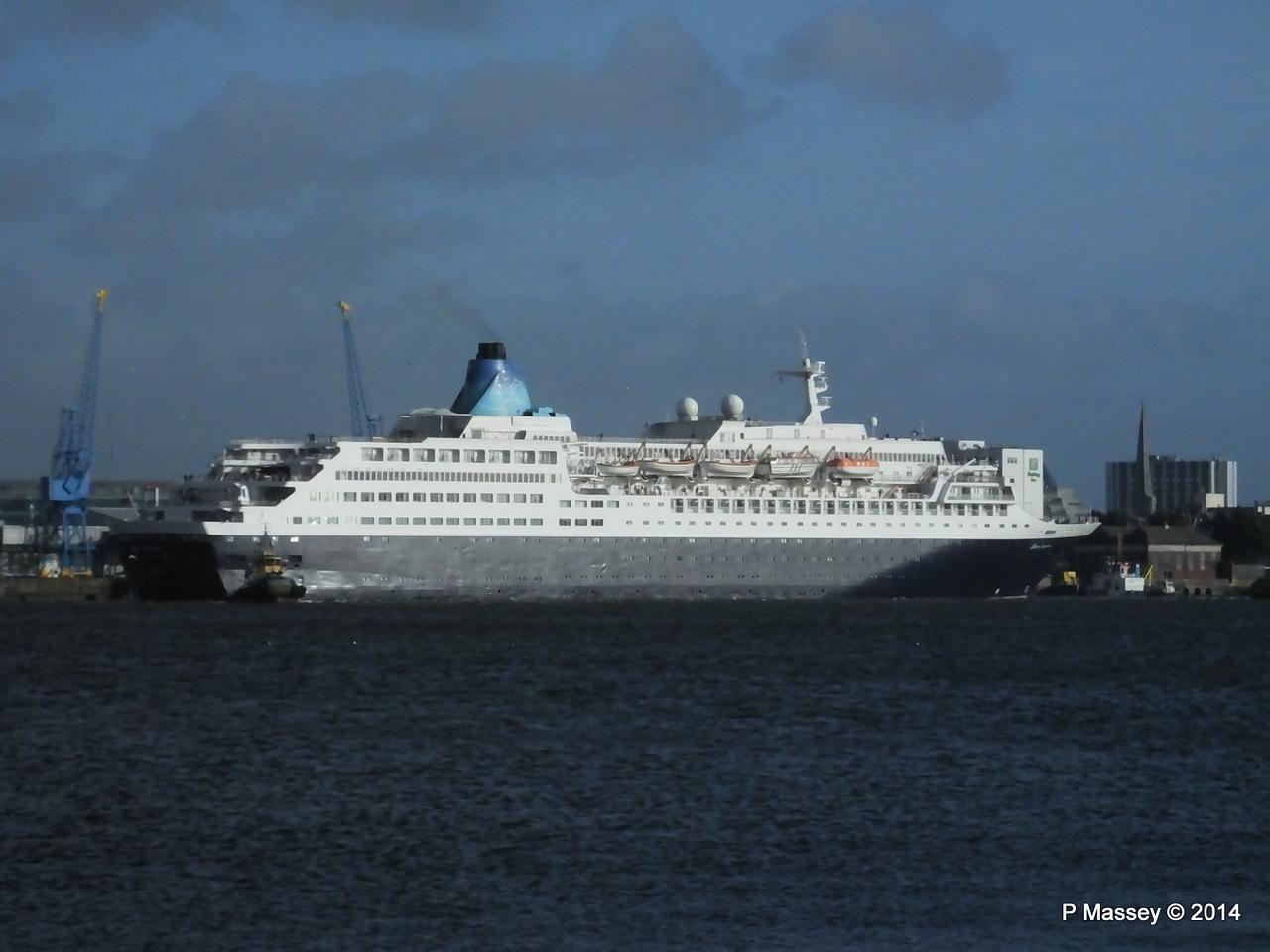SAGA SAPPHIRE Departing Southampton PDM 07-01-2014 12-15-58