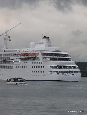 Alison MacGregor SILVER CLOUD Departing Southampton PDM 20-07-2011 21-08-47