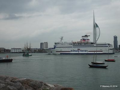 BRETAGNE Arriving Portsmouth PDM 31-05-2014 17-59-04
