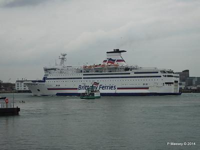 BRETAGNE Arriving Portsmouth PDM 31-05-2014 17-59-21