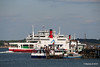 RED FALCON RED EAGLE Passing behind ASHLEIGH R & SOLENT ROSE Hythe pier PDM 16-05-2016 17-15-32