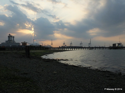 Evening Over Husbands Jetty Southampton Docks PDM 24-07-2014 20-04-35