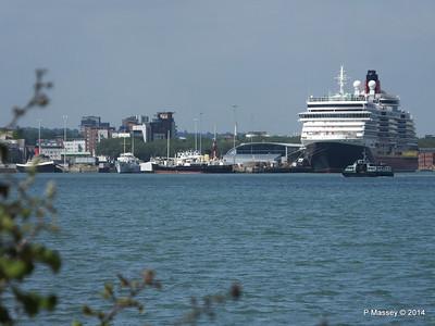 TUG TENDER CALSHOT SHEMARA ss SHIELDHALL QUEEN VICTORIA Southampton PDM 19-06-2014 15-28-34