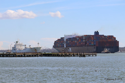 APL CHANGI Passing GREEN GUATEMALA over Royal Pier Southampton PDM 12-04-2016 15-37-32