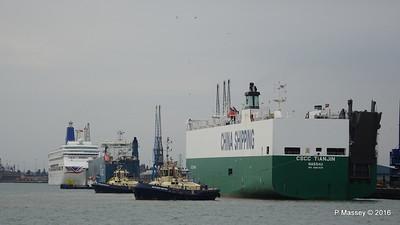CSCC TIANJIN Arriving AUTOSTAR ORIANA Southampton PDM 24-09-2016 15-08-04