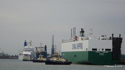 CSCC TIANJIN Arriving AUTOSTAR ORIANA Southampton PDM 24-09-2016 15-08-03