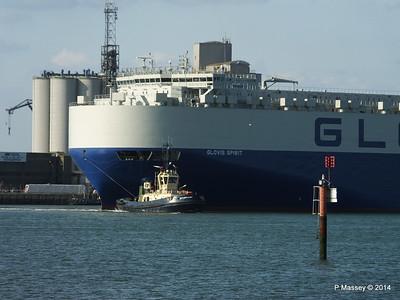 GLOVIS SPIRIT Departing Southampton PDM 22-07-2014 18-08-08