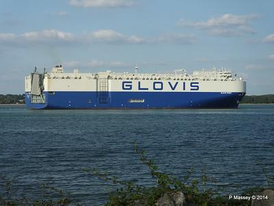 GLOVIS SPIRIT Departing Southampton PDM 22-07-2014 18-15-13