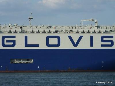 GLOVIS SPIRIT Departing Southampton PDM 22-07-2014 18-14-00