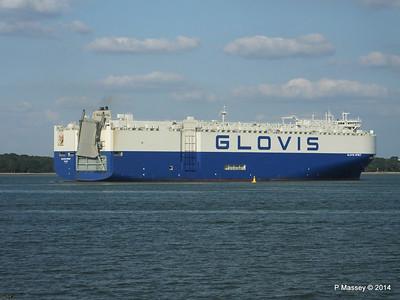 GLOVIS SPIRIT Departing Southampton PDM 22-07-2014 18-16-27